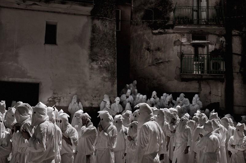 Penitential rite in Guardia Sanframondi, Italy. 2010.
