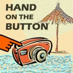 Hand on the button